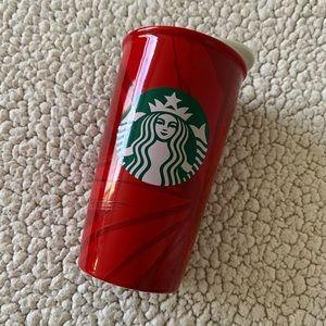 • Starbucks Red Ceramic Cup •